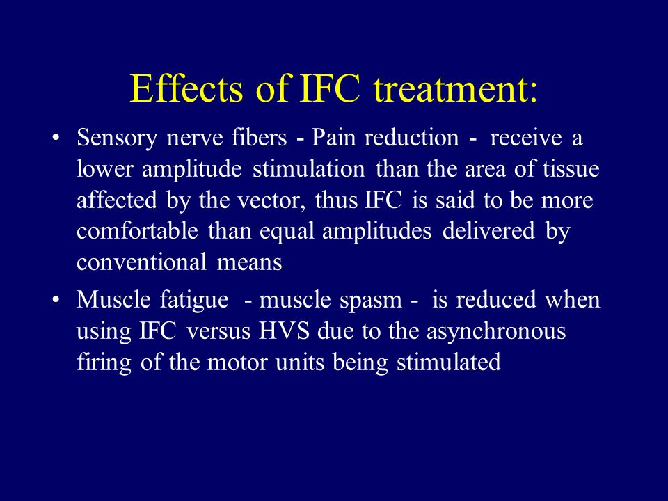 Effects of IFC treatment: