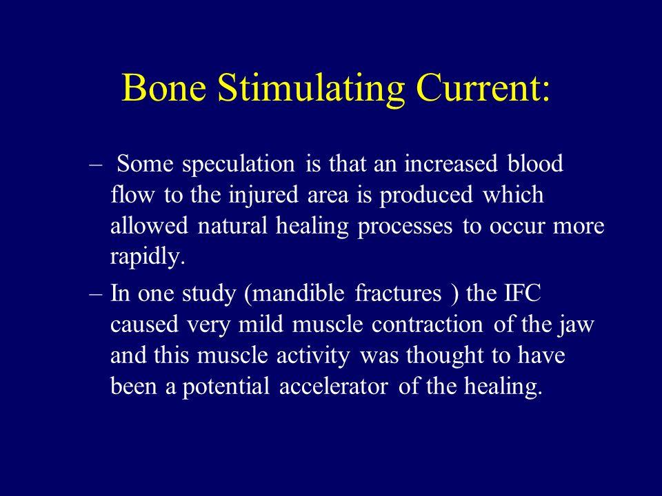 Bone Stimulating Current: