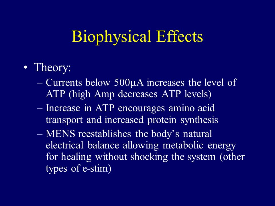 Biophysical Effects Theory: