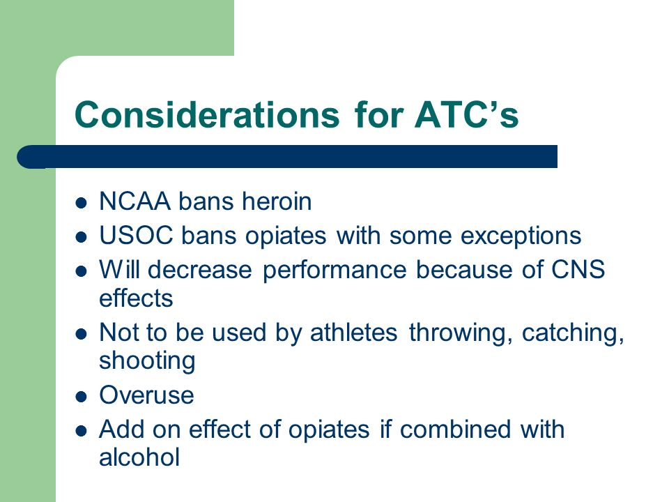 Considerations for ATC's