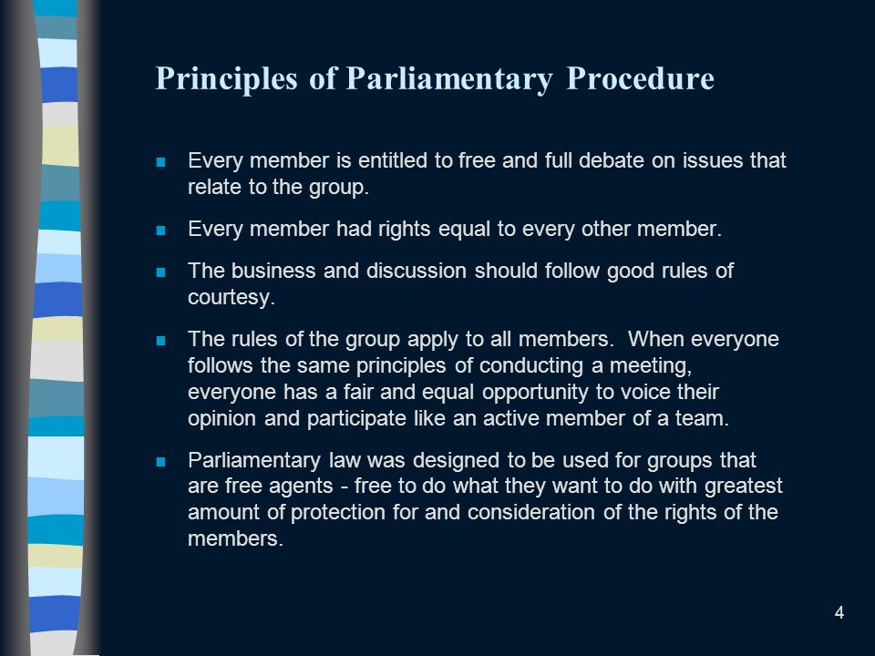 Principles of Parliamentary Procedure