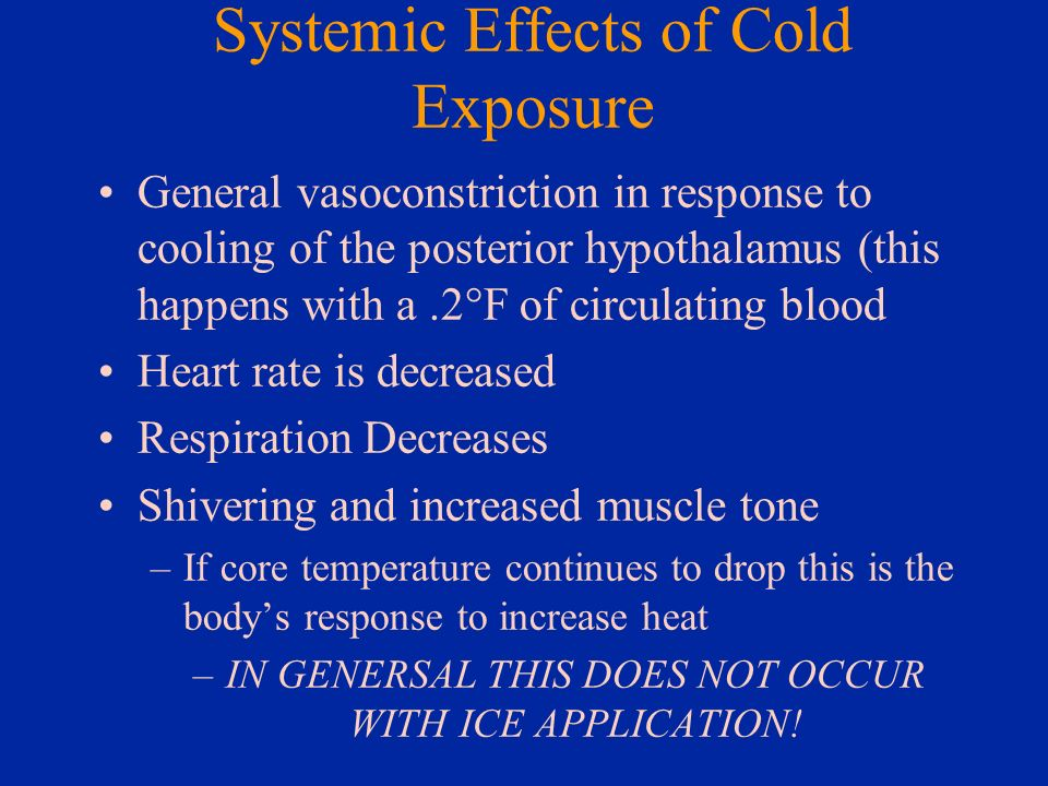 Systemic Effects of Cold Exposure