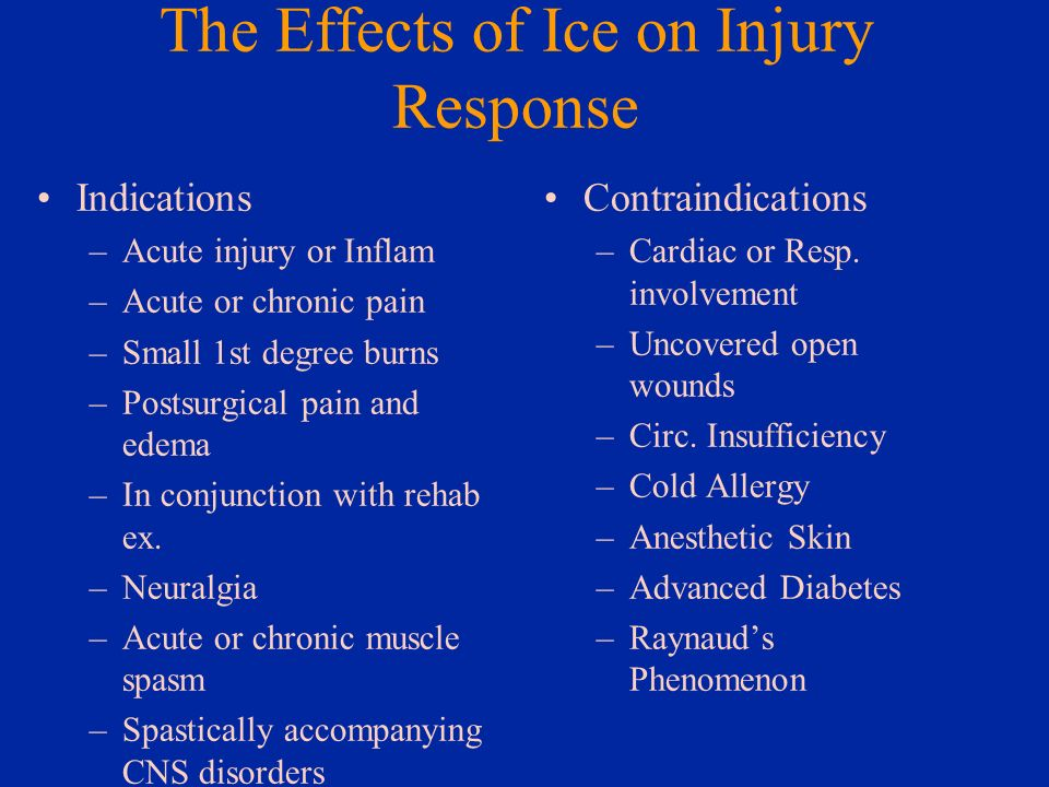 The Effects of Ice on Injury Response