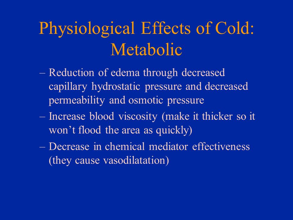 Physiological Effects of Cold: Metabolic