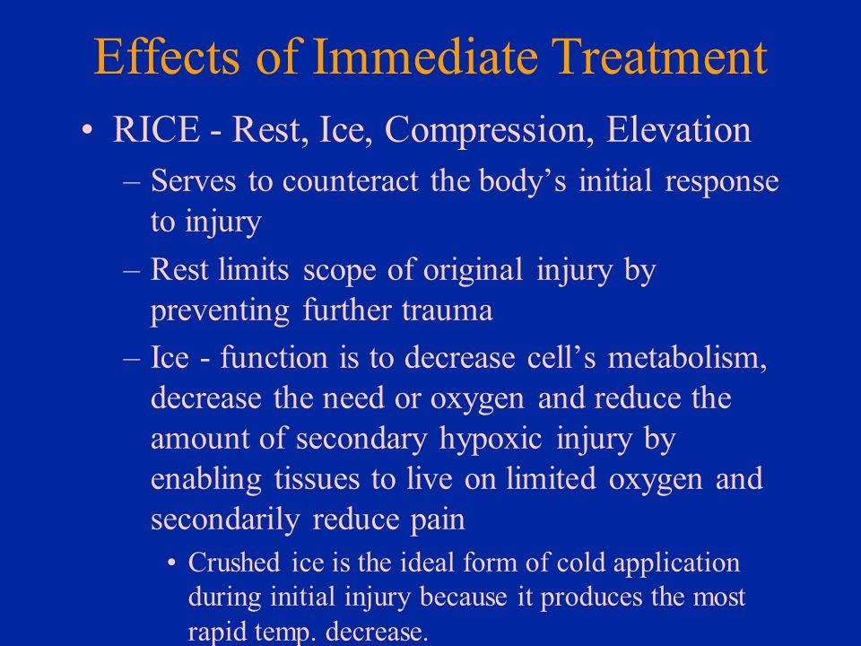 Effects of Immediate Treatment