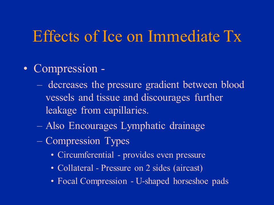 Effects of Ice on Immediate Tx