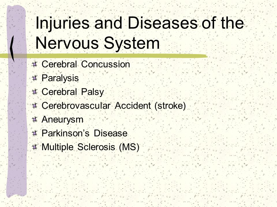 Injuries and Diseases of the Nervous System