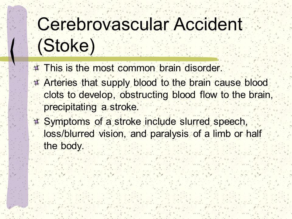 Cerebrovascular Accident (Stoke)