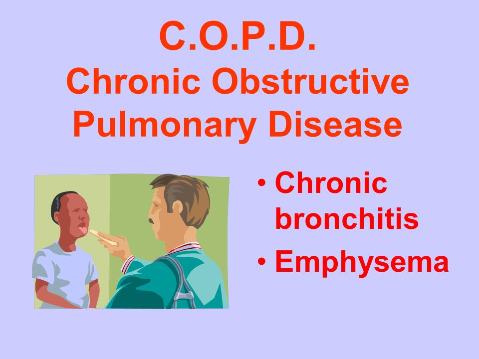 C.O.P.D. Chronic Obstructive Pulmonary Disease
