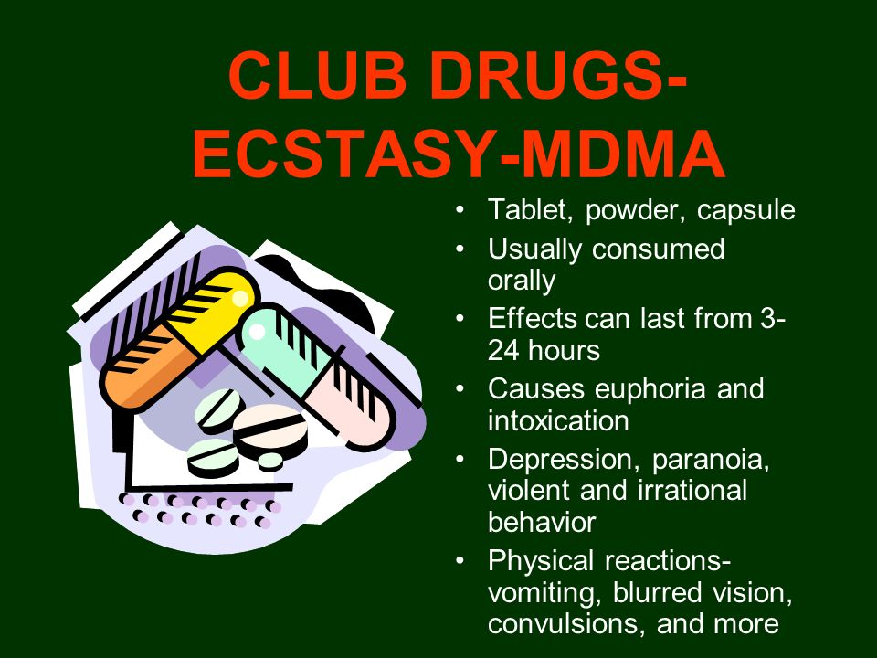 CLUB DRUGS-ECSTASY-MDMA