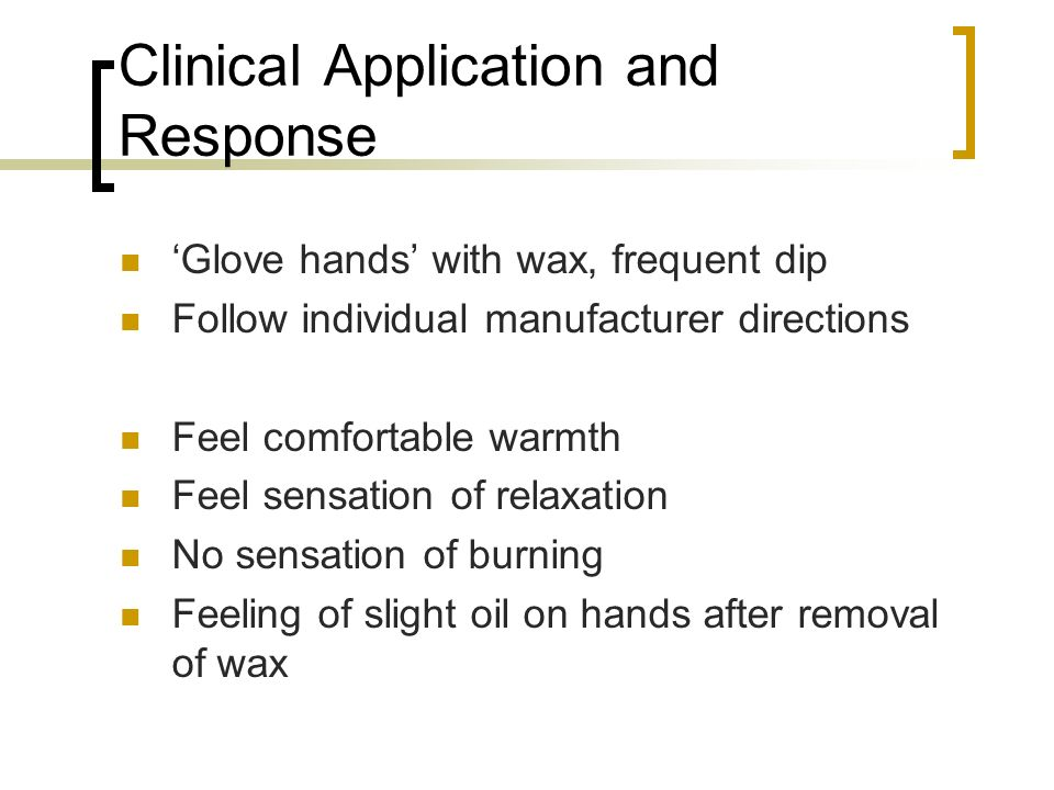 Clinical Application and Response