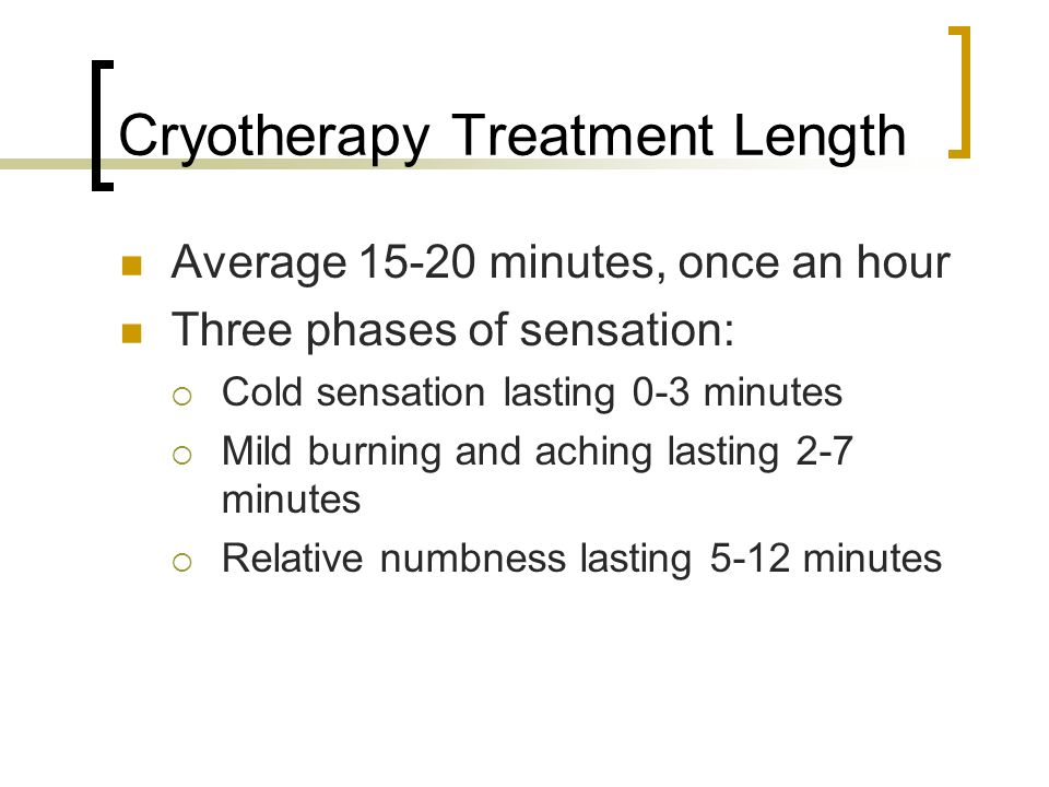 Cryotherapy Treatment Length