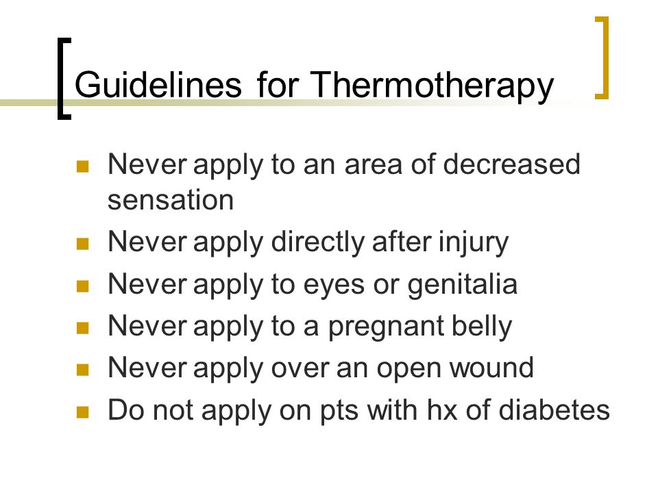 Guidelines for Thermotherapy