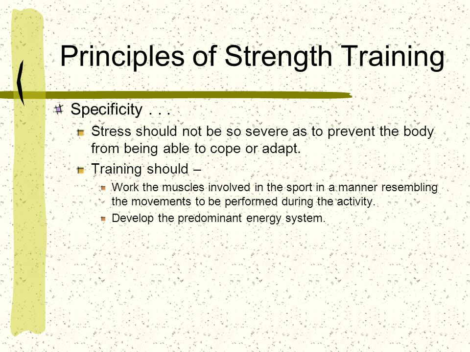 Principles of Strength Training