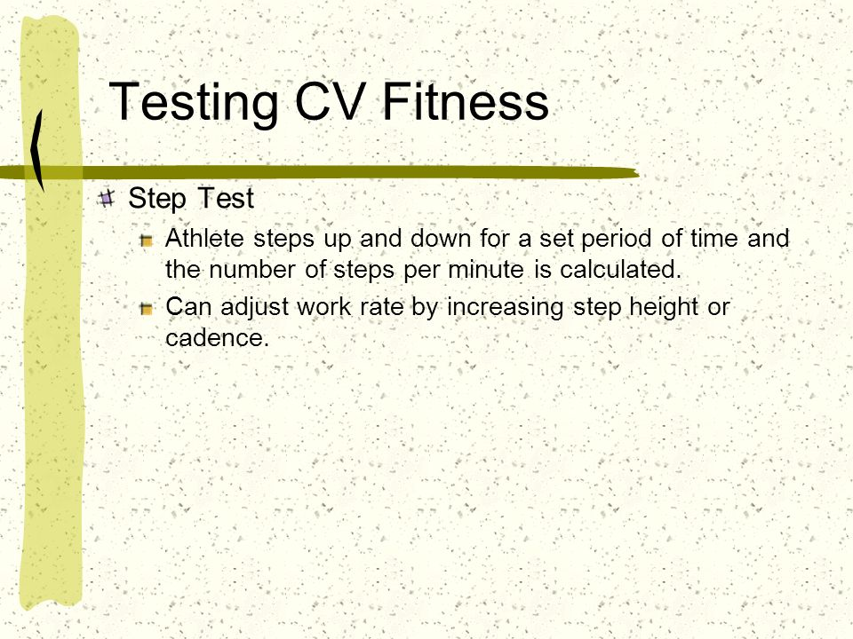 Testing CV Fitness Step Test