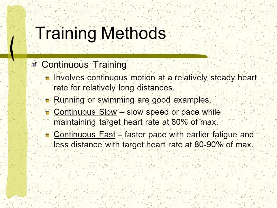 Training Methods Continuous Training
