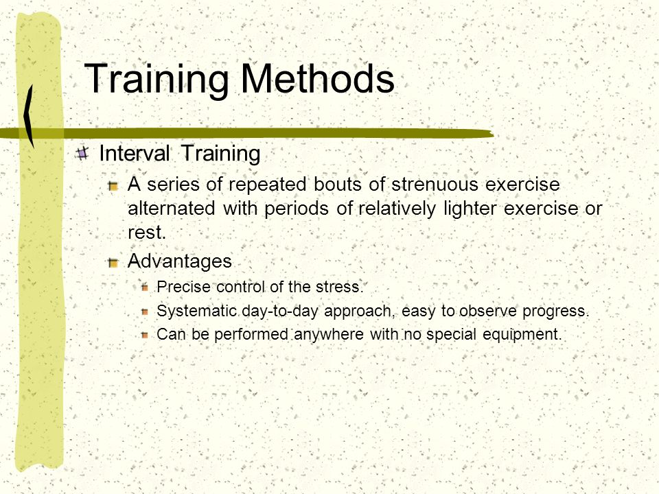 Training Methods Interval Training