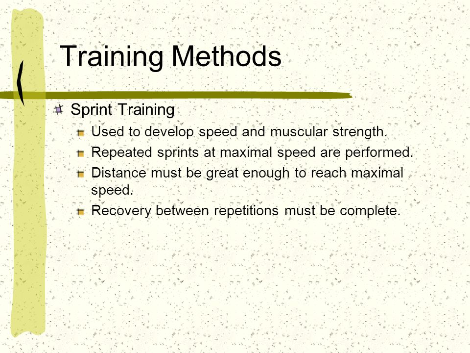 Training Methods Sprint Training