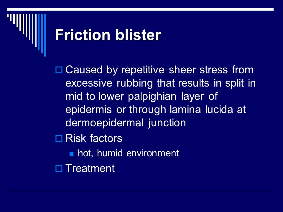 Friction blister