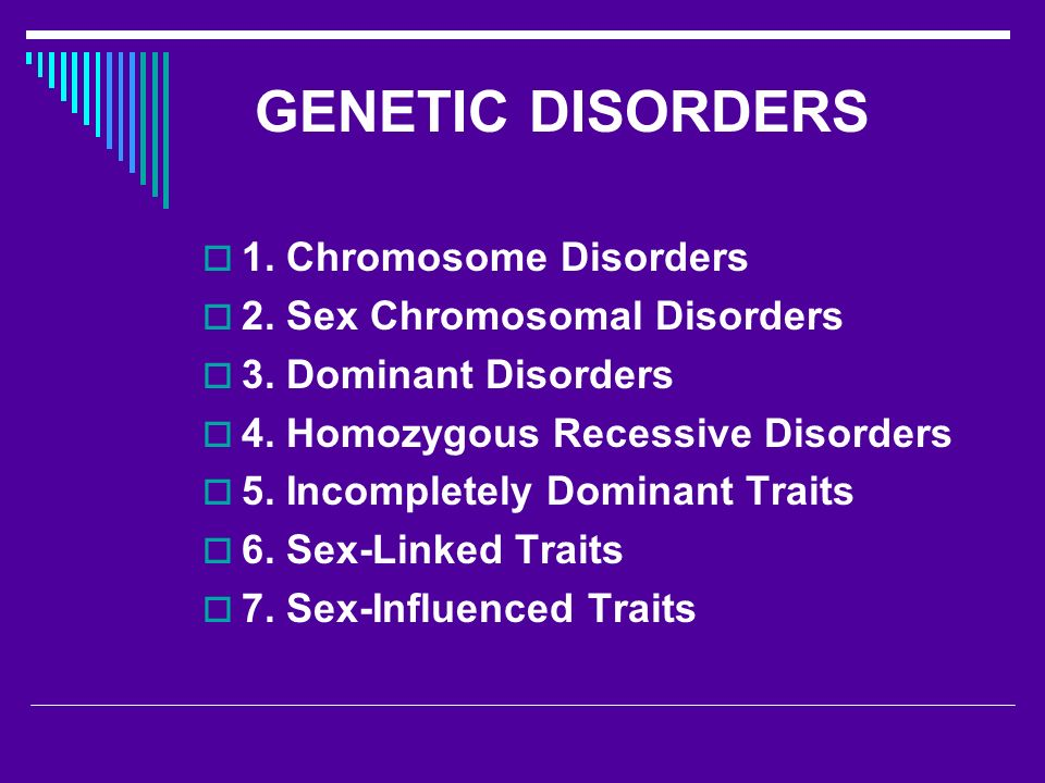 what are sex linked genetic disorders