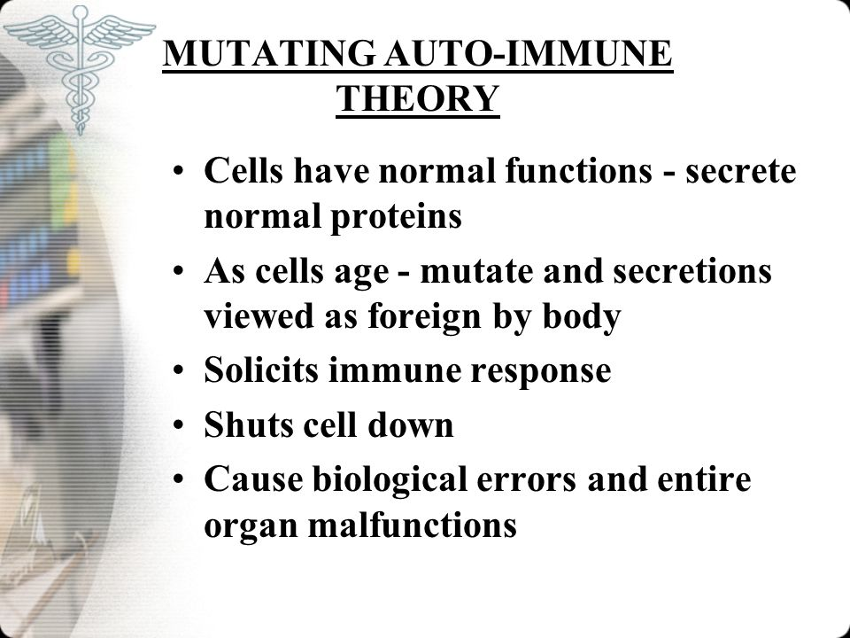 MUTATING AUTO-IMMUNE THEORY