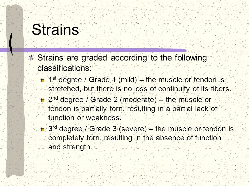 Strains Strains are graded according to the following classifications: