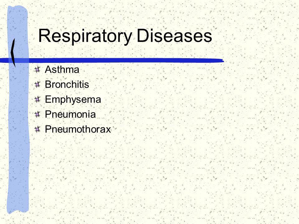 Respiratory Diseases Asthma Bronchitis Emphysema Pneumonia