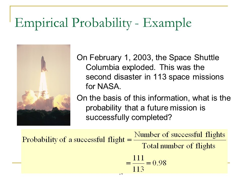Empirical Probability - Example