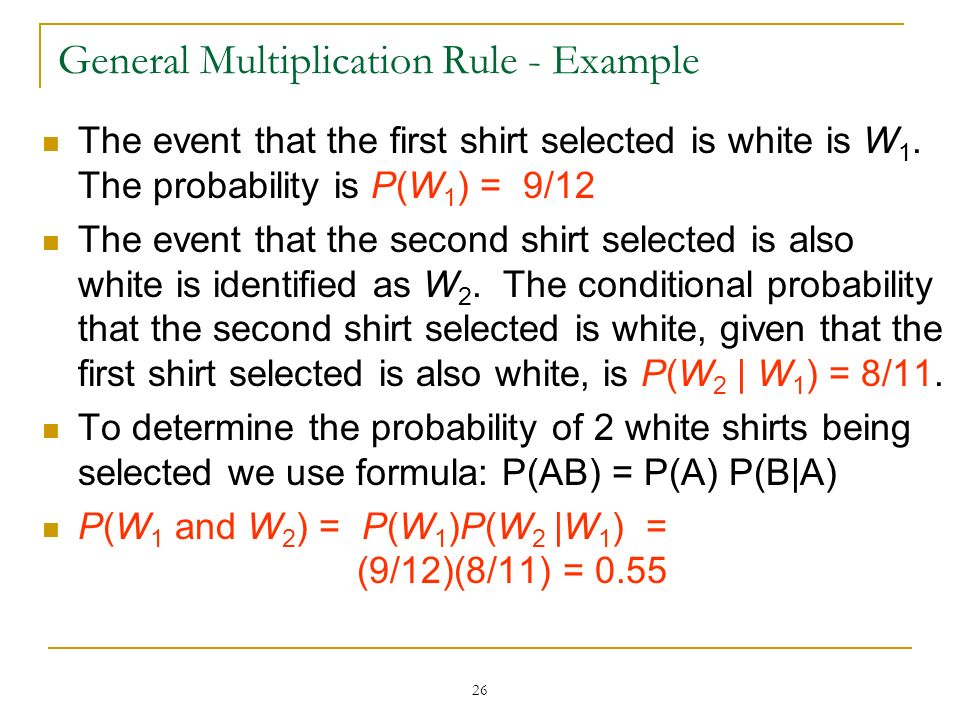 General Multiplication Rule - Example