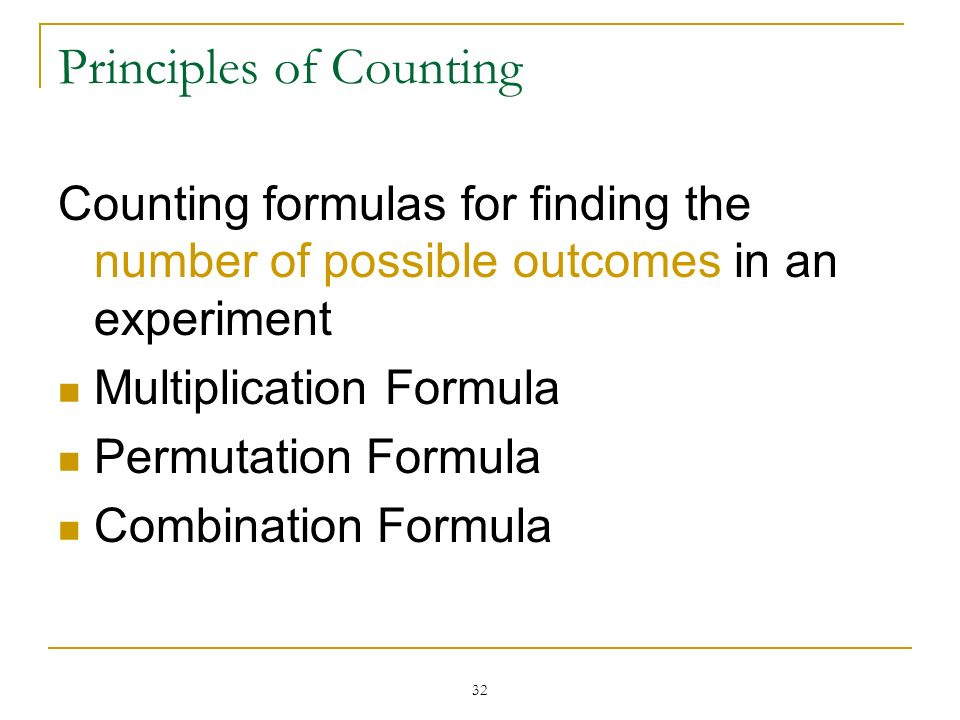 Principles of Counting
