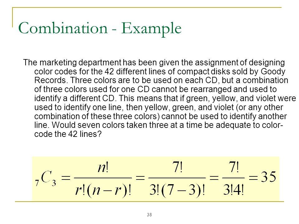 Combination - Example