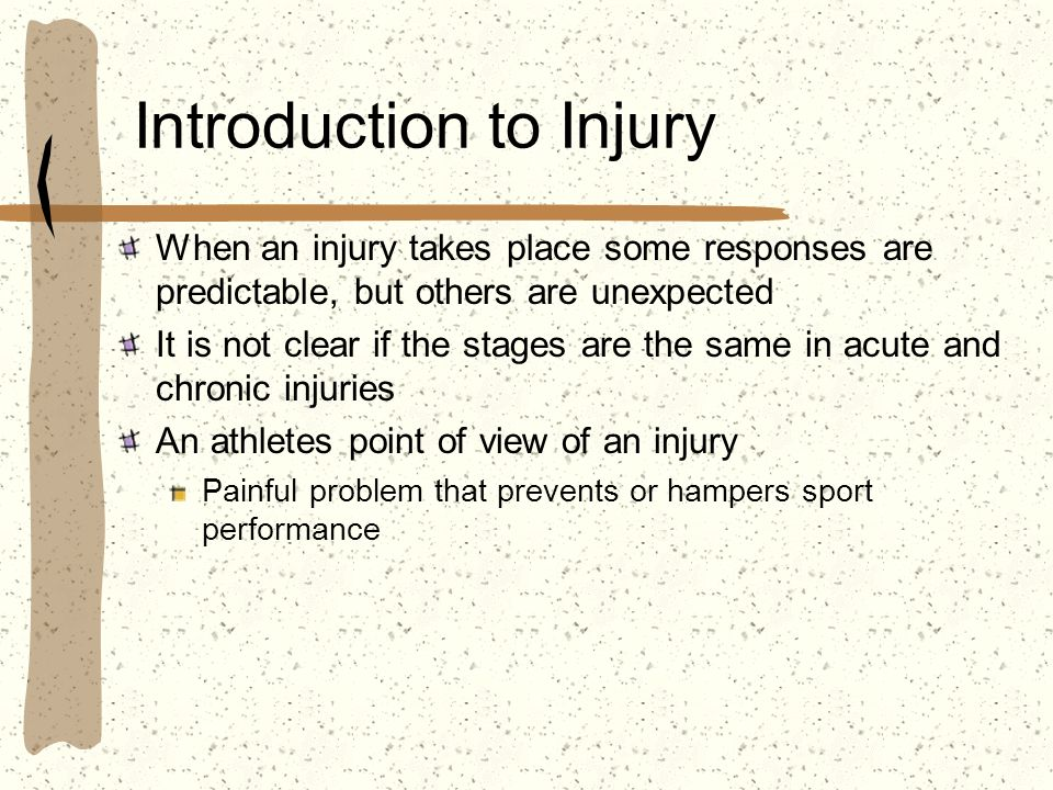 Introduction to Injury