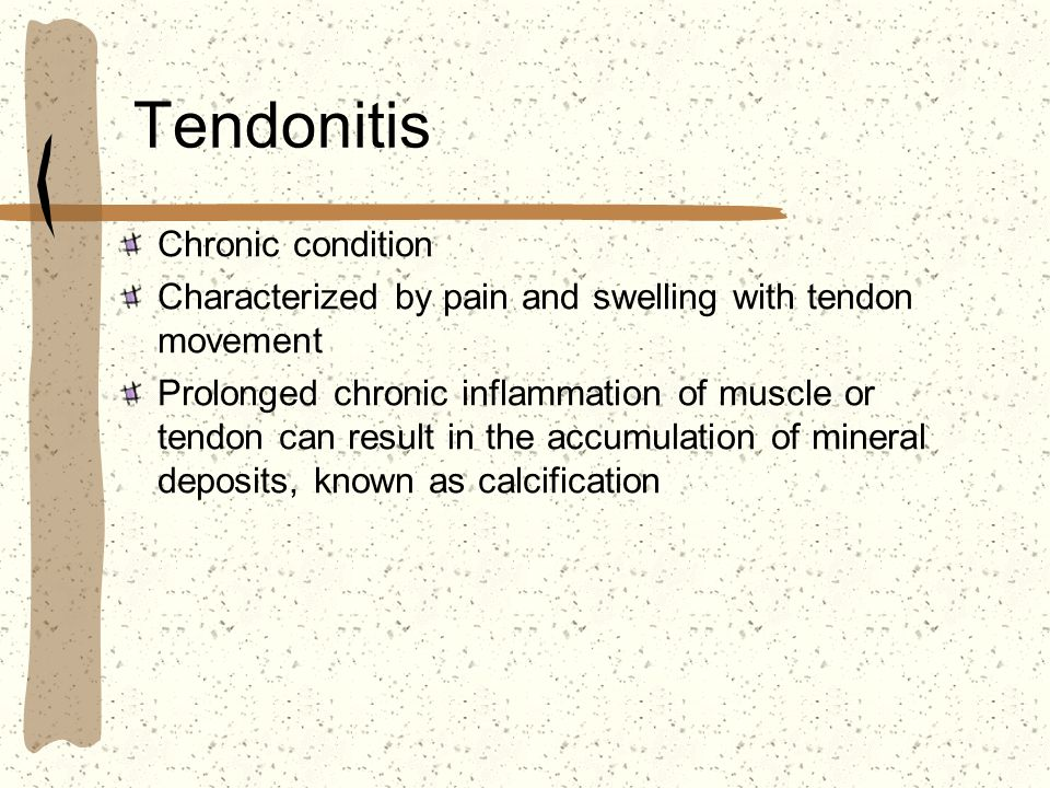 Tendonitis Chronic condition
