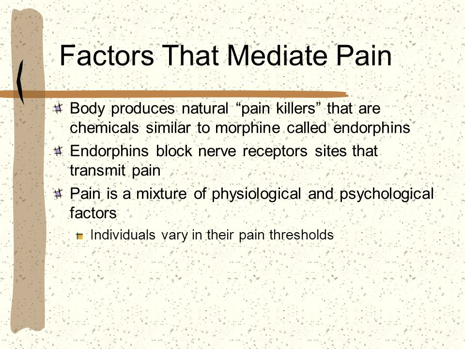 Factors That Mediate Pain