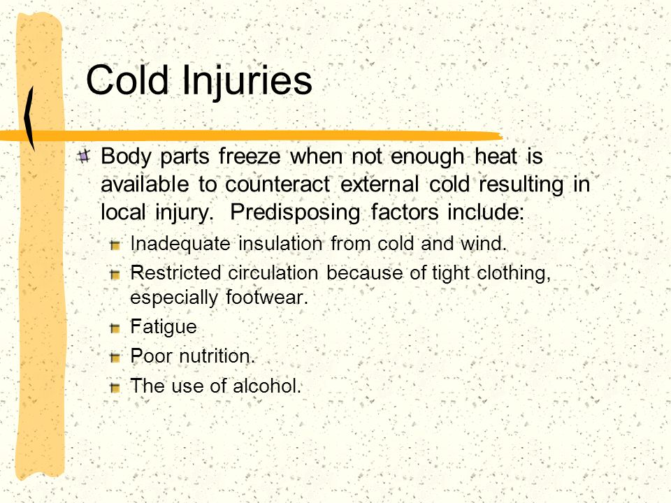 Cold Injuries