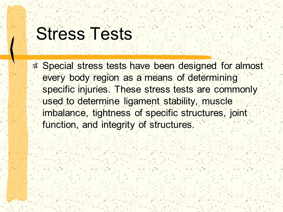 Stress Tests