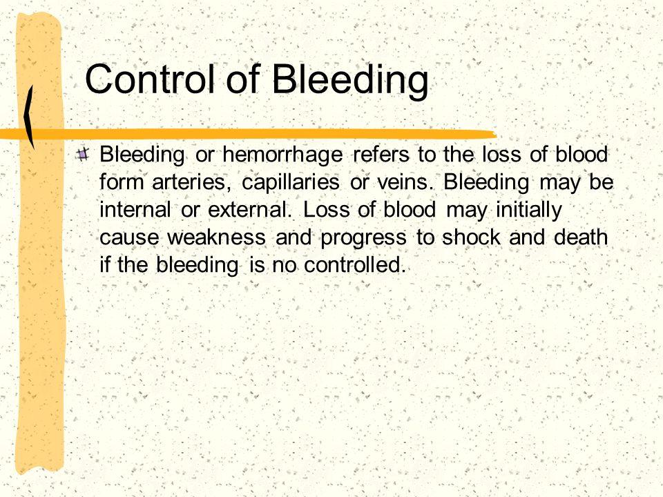 Control of Bleeding