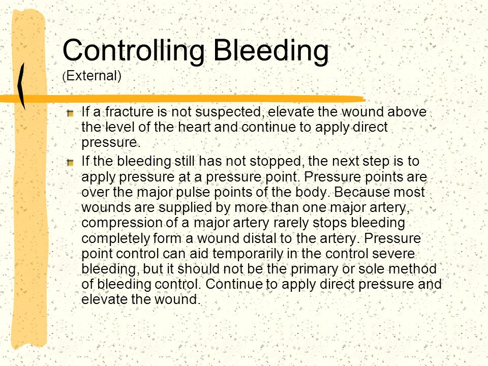 Controlling Bleeding (External)