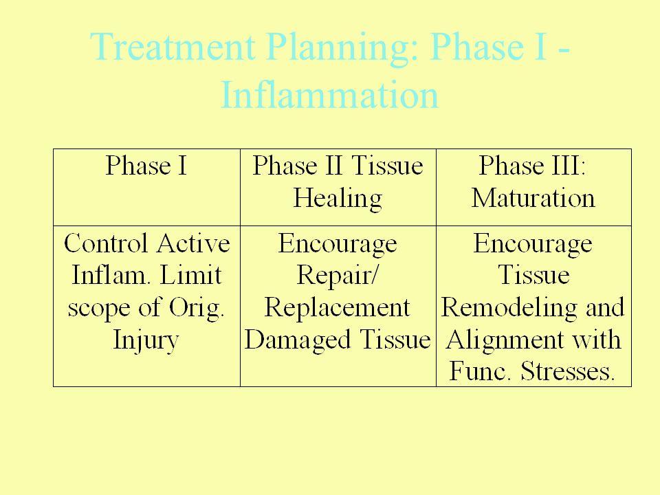 Treatment Planning: Phase I - Inflammation