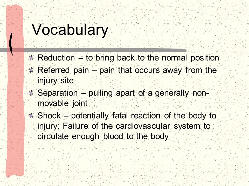 Vocabulary Reduction – to bring back to the normal position
