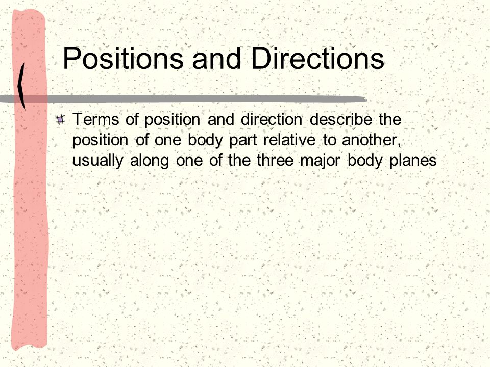 Positions and Directions