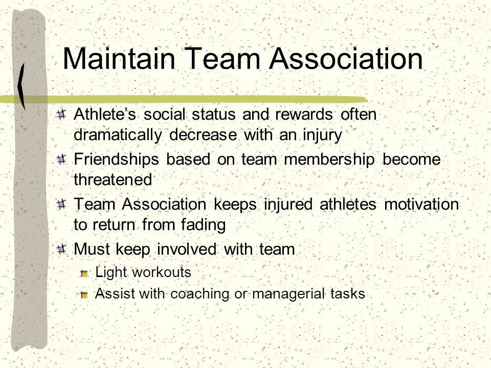 Maintain Team Association