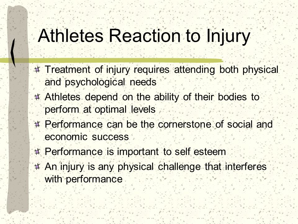 Athletes Reaction to Injury