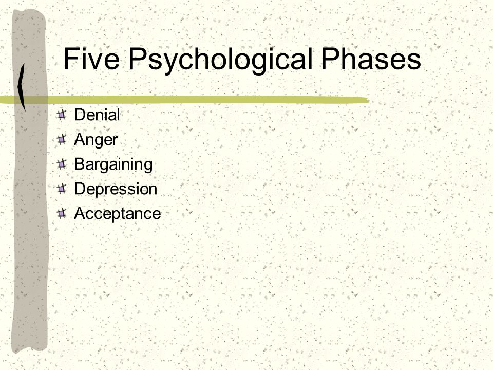 Five Psychological Phases
