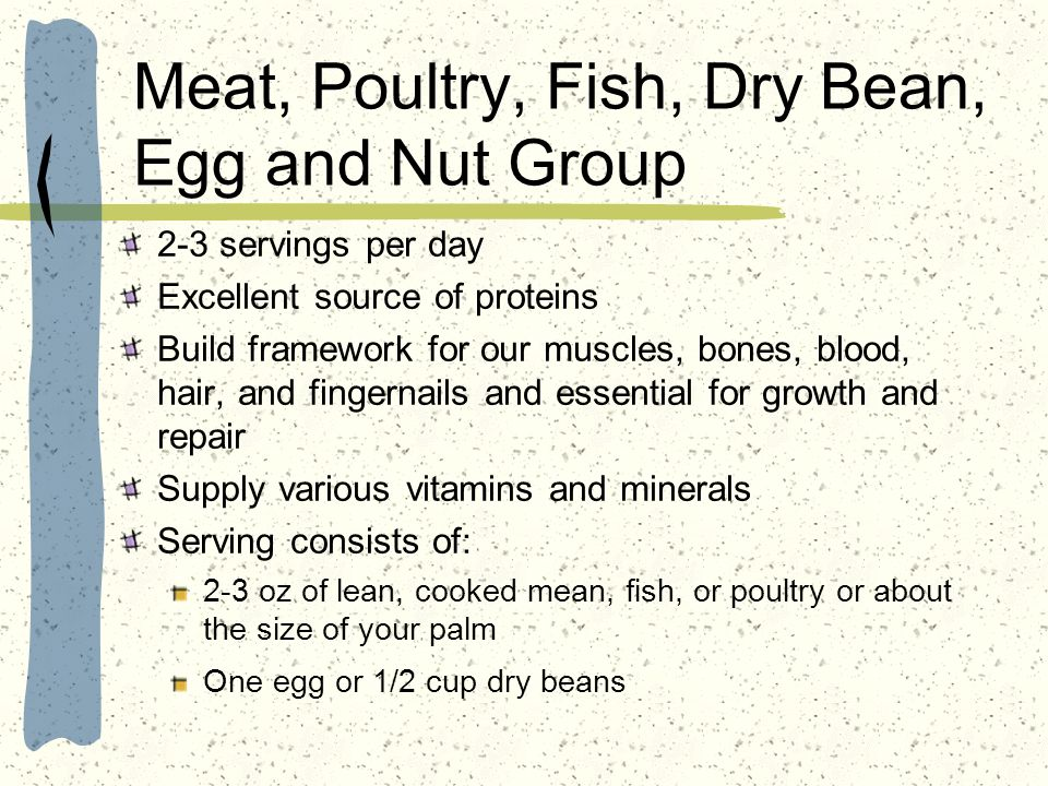 Meat, Poultry, Fish, Dry Bean, Egg and Nut Group