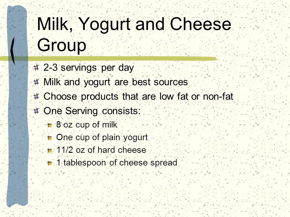 Milk, Yogurt and Cheese Group