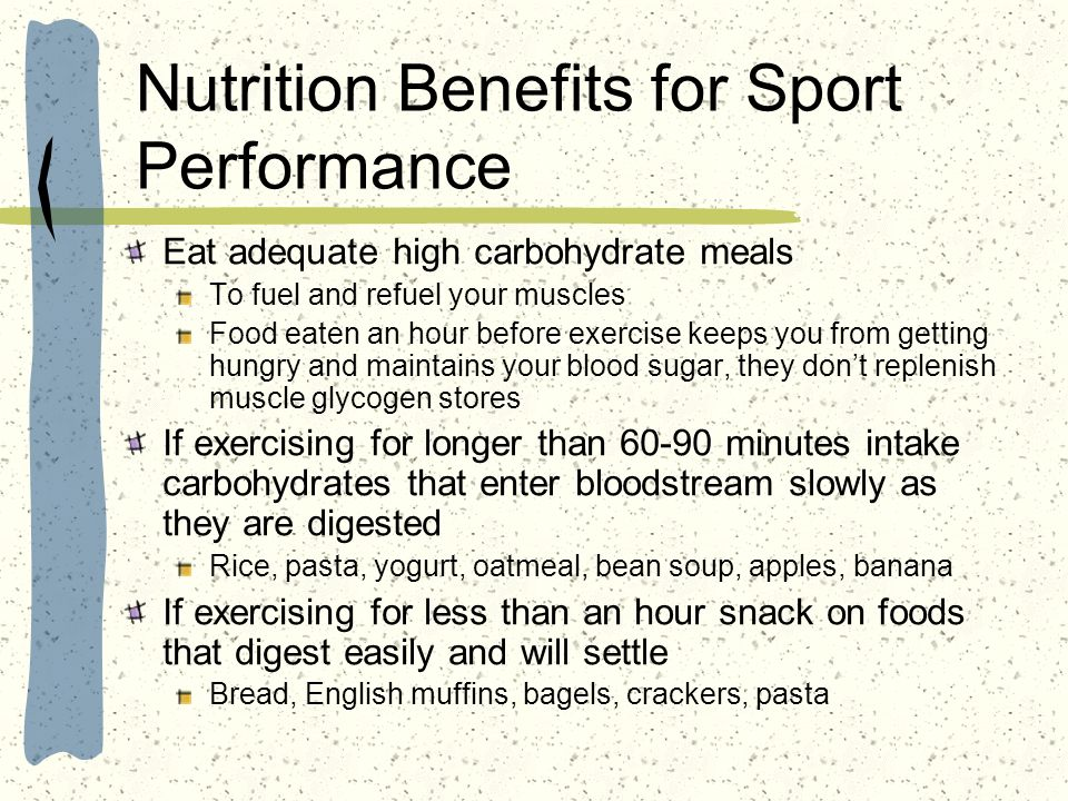 Nutrition Benefits for Sport Performance