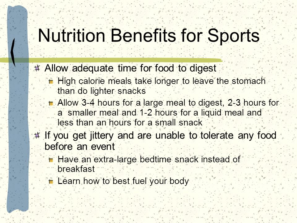 Nutrition Benefits for Sports