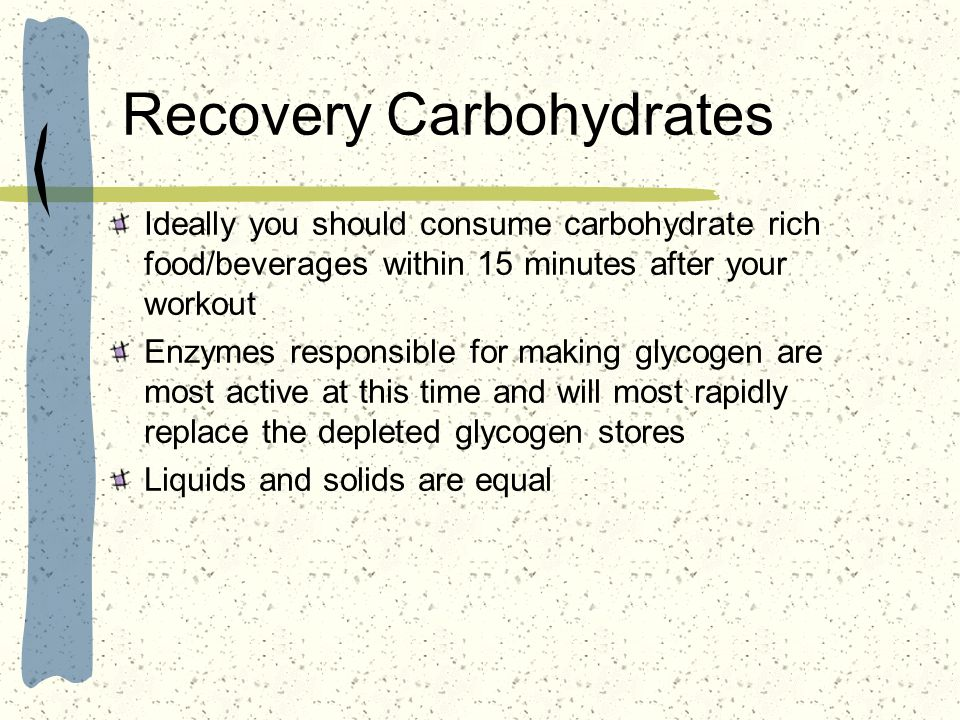 Recovery Carbohydrates