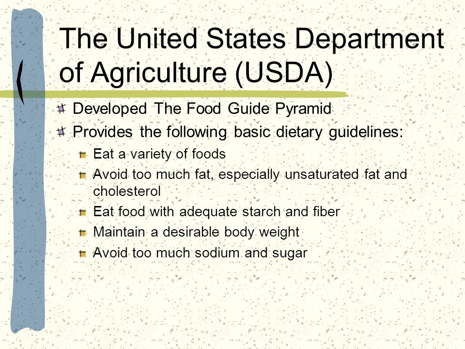 The United States Department of Agriculture (USDA)